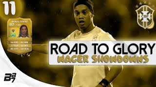 ROAD TO GLORY WAGER MATCHES BRAZIL | RONALDINHO #11 | FIFA 14 UT