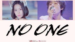 LEE HI ft. B.I 'iKON' - NO ONE Easy Lyrics by GOMAWO [Indo Sub]