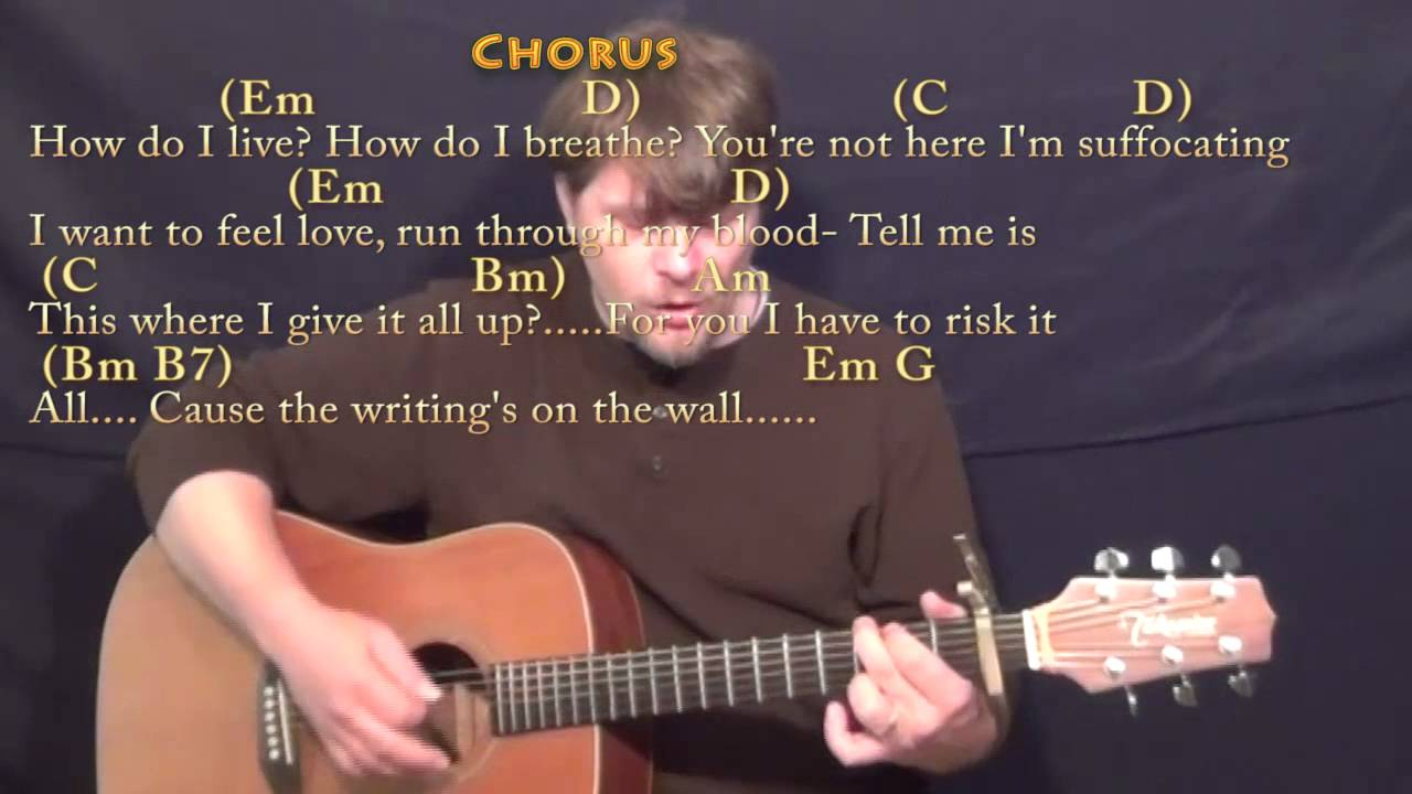 Writings On The Wall Sam Smith Guitar Cover Lesson With Chords