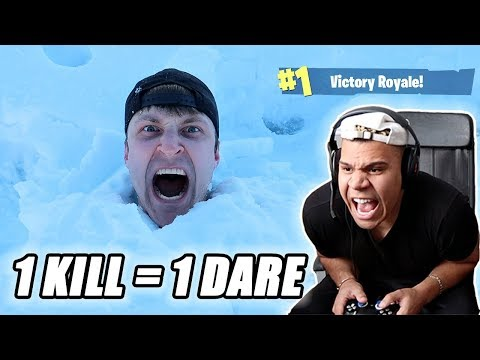 1 KILL = 1 DARE ft. WOLFIE (FORTNITE BATTLE ROYALE) Fortnite Roulette Dare Mobile Battle