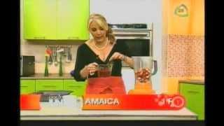 Granita De Fresa Y Jamaica