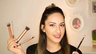 Perfect makeup tutorial with 5 basics brushes (Mac - real techniques)