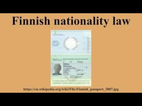 Finnish nationality law