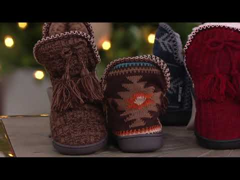 9119febbd043 MUK LUKS Amira Slippers with Jojoba Infused Furpa Lining on QVC