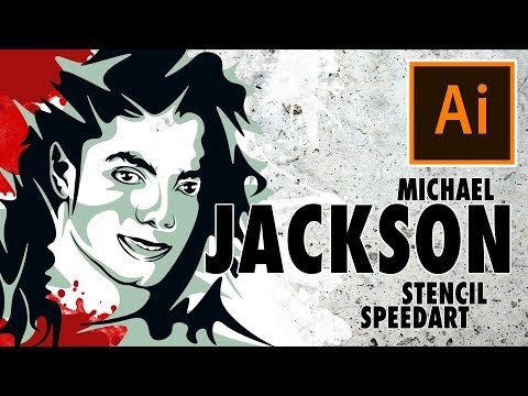 MICHAEL JACKSON Stencil Speedart /Adobe Illustrator / Free Download