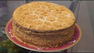 Домашний  медовый пирог.Очень вкусный.