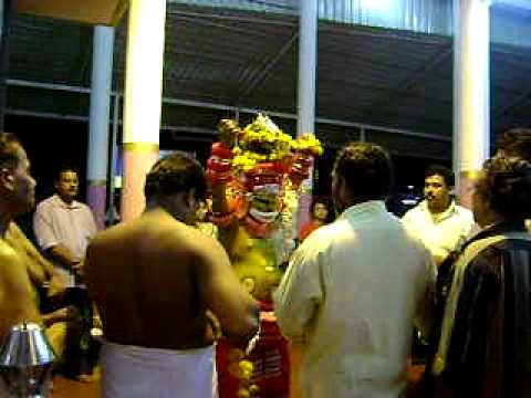 Muthappan Vellattam at the Cannanore Railway Station Muthappan Temple