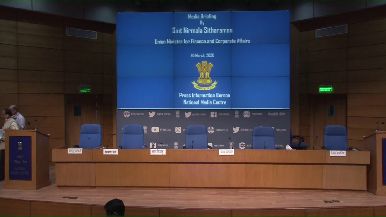 Press conference by Union Finance Minister Nirmala Sitharaman