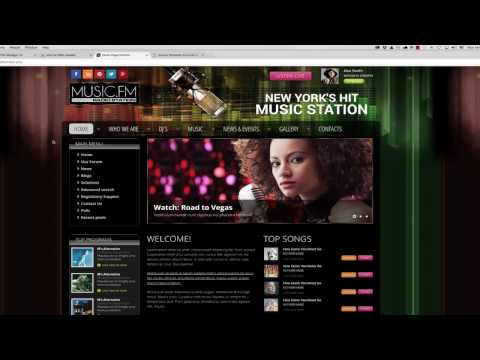 How To Install Joomla Radio Station Template
