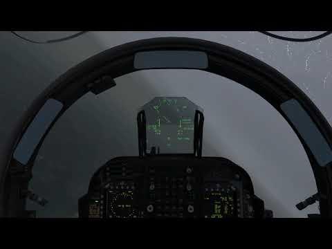DCS: AV-8B NA II Harrier - Carrier landing in crap weather.