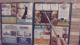 ASMR ~ Whispered Reading of Local Business/Coupon Magazine (w/Pointer)