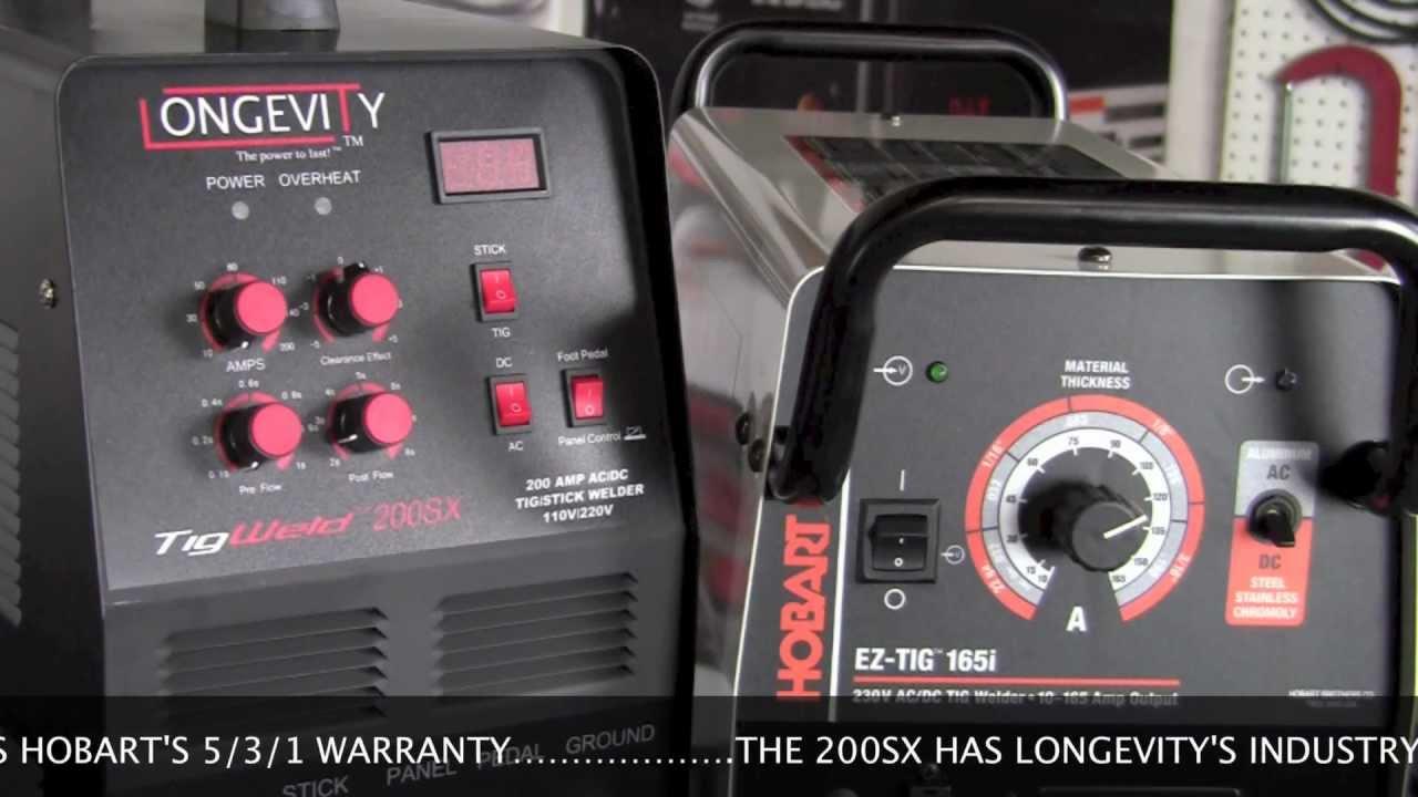 Hobart Tig Welder >> Hobart Ez Tig 165i And Longevity 200sx Component And Equipment