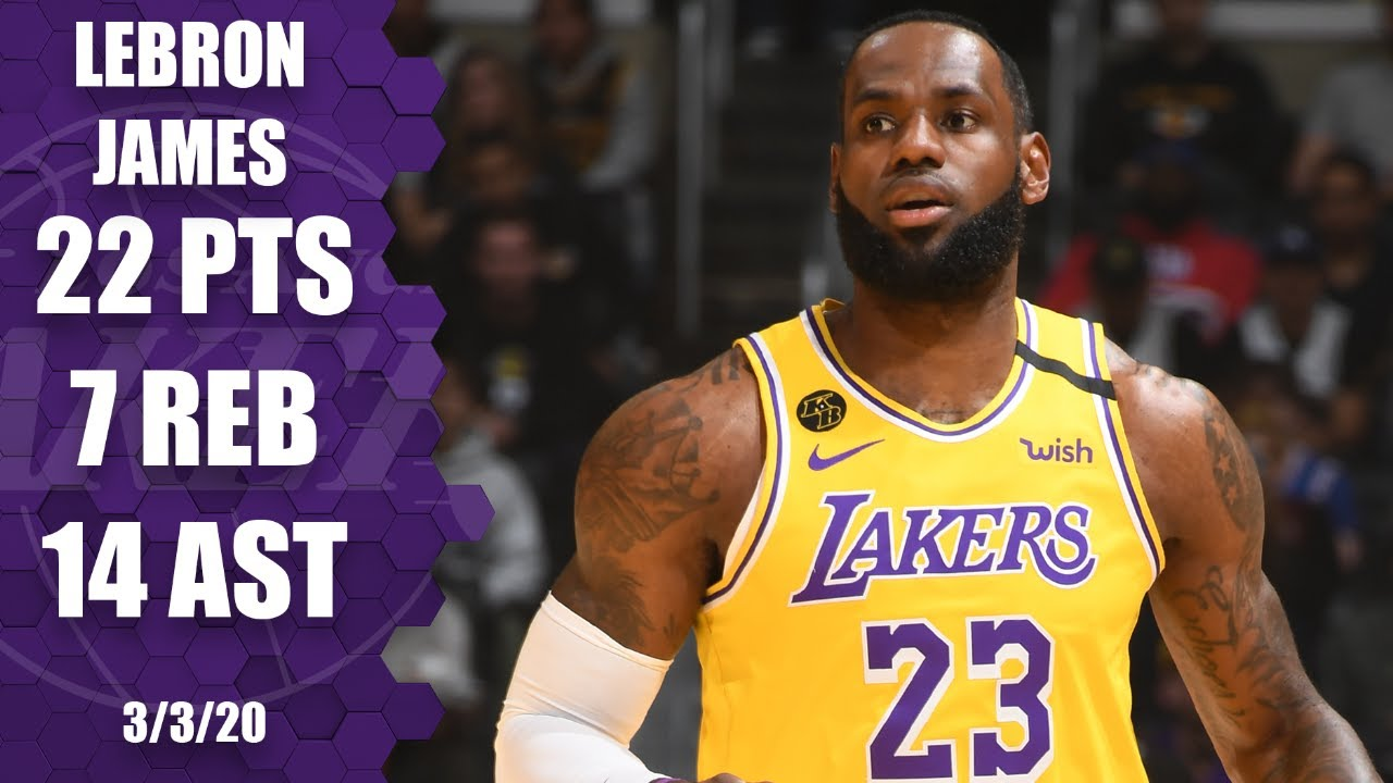LeBron James drains shot from logo, with double-double in Lakers vs. 76ers | 2019-20 NBA Highlights