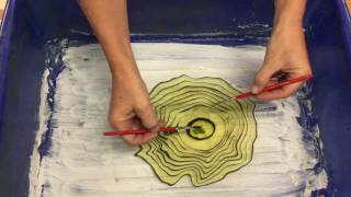 Suminagashi art lesson