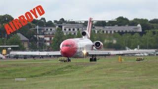 OSRL Boeing 727 Flight Demonstration - Farnborough Airshow 2016 (Tuesday)