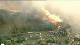 Australia: homes and cars destroyed in NSW fires
