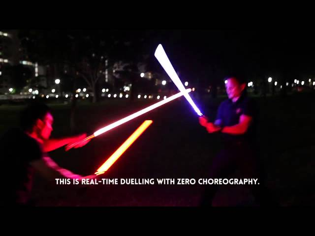 RAW footage, REAL TIME lightsaber dueling - Zero Choreography. The Saber Authority Singapore