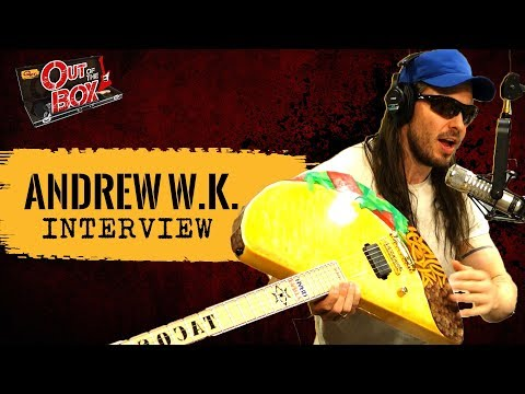 Interview: Andrew W.K. Shows Us His Taco Guitar, Eats Our Donuts, Parties