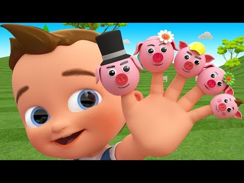 Little Baby Fun Learning Colors with Cartoon Pig Finger Family Song Toy Cars 3D Kids Educational