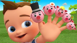 Cartoon Pig Finger Family Song Toy Cars 3D Little Baby Fun Learning Colors Kids Educational