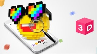 Pixel Art - How To Draw 3D Pixel emoji