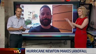 The Weather Channel: Josh Morgerman Reporting on Hurricane NEWTON