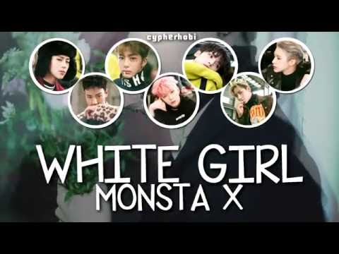 몬스타엑스 MONSTA X - 하얀소녀 WHITE GIRL LYRICS [COLOR CODED HAN / ROM / ENG]