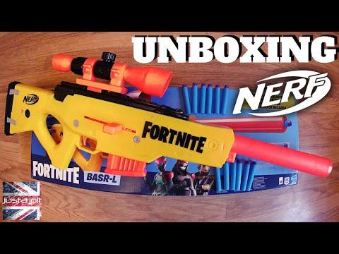 New Nerf Fortnite BASR-L Unboxing: Fortnite Nerf Sniper Rifle Goodness