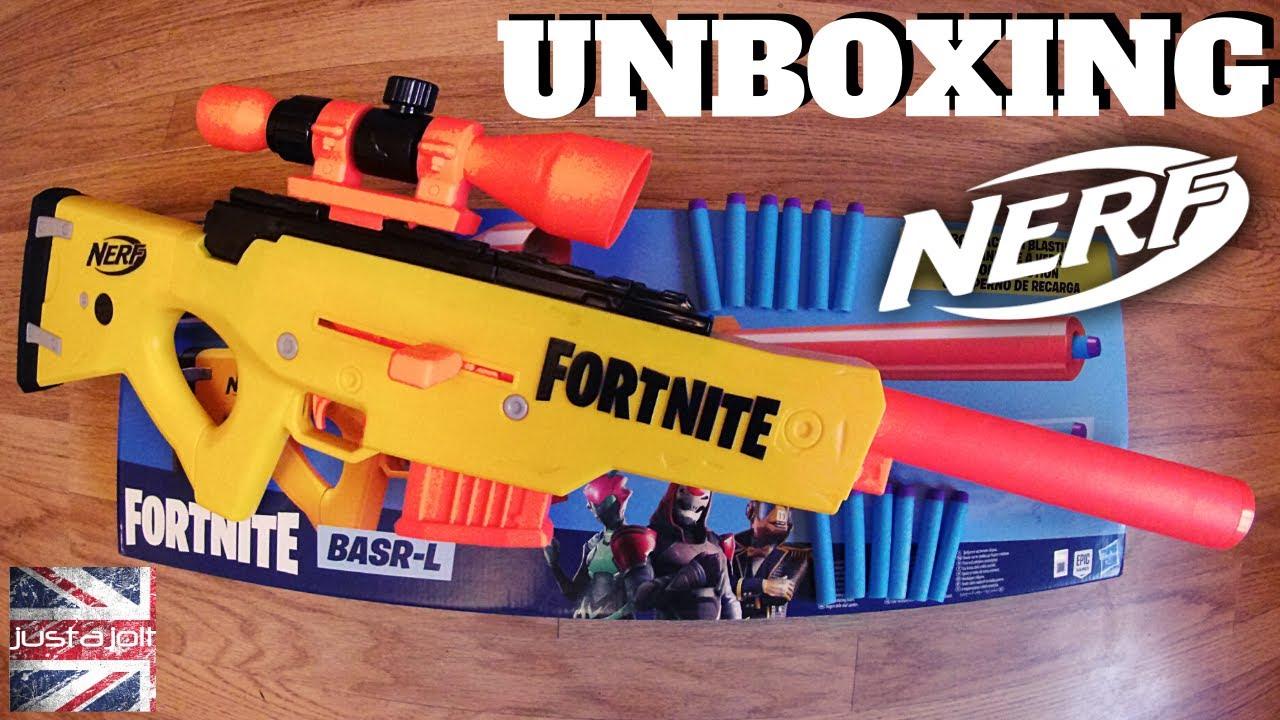 Infantry Sniper Fortnite New Nerf Fortnite Basr L Unboxing Fortnite Nerf Sniper Rifle Goodness Youtube