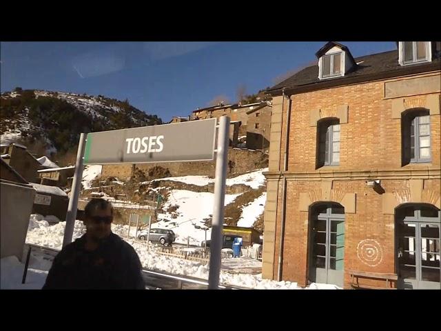 El poble de Toses (Ripollès) amb un tou de neu - Gener 2018