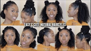 10 QUICK EASY NATURAL HAIRSTYLES FOR CURLY HAIR | Protective Hairstyles