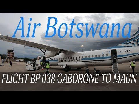 Air Botswana Flight BP 038 Gaborone To Maun