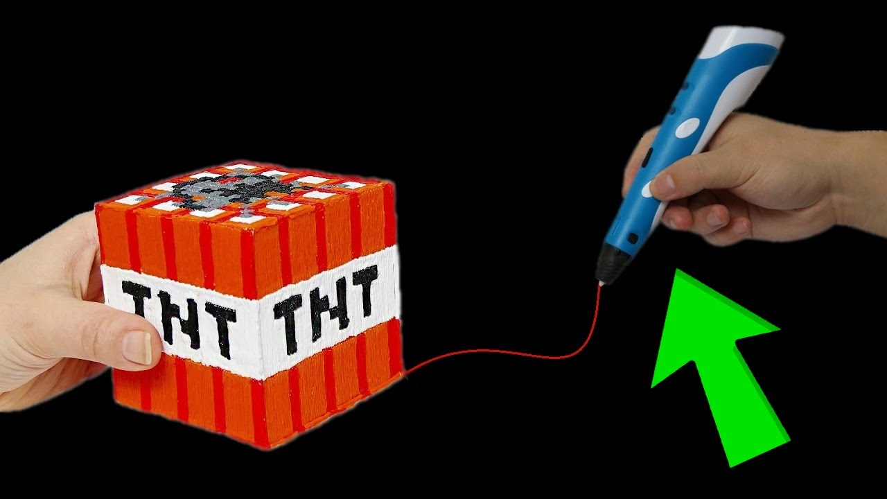 minecraft tnt block mit 3d stift malen diy youtube. Black Bedroom Furniture Sets. Home Design Ideas