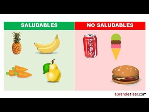 Alimentos Saludables Y No Saludables Explicacion Para Niños Youtube