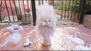How-to make a DIY Mardi Gras headdress