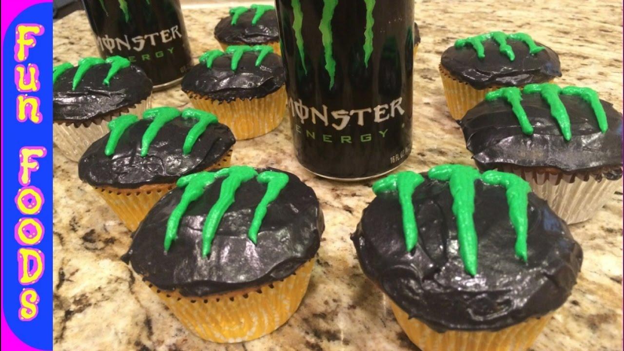 monster energy drink cupcakes how to make monster energy. Black Bedroom Furniture Sets. Home Design Ideas
