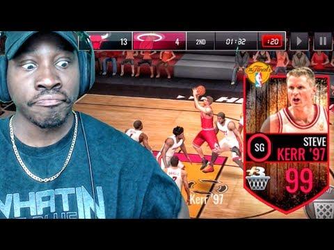 99 OVR FINALS STEVE KERR IS UNBELIEVABLE! NBA Live Mobile 16 Gameplay Ep. 124