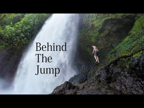Behind the Jump  100 ft Costa Rican Waterfall