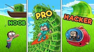 Minecraft - SLIME TSUNAMI BASE! (NOOB vs PRO vs HACKER)