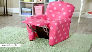 Kidz World Oxygen Pink Kids Recliner   Product Review Video