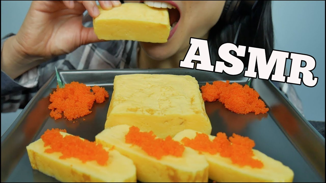 ASMR Tamagoyaki *Japanese Omelet + Tobiko Eggs  ( EATING SOUNDS ) NO TALKING | SAS-ASMR