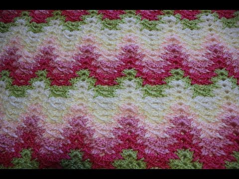How to crochet the Grandma Spiked My Ripple Blanket Stitch