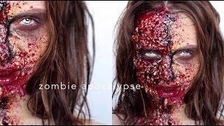 Как делать кровавый гримм в домашних условиях  Видеоурок   SFX Makeup   Halloween Art   Делаю зомби