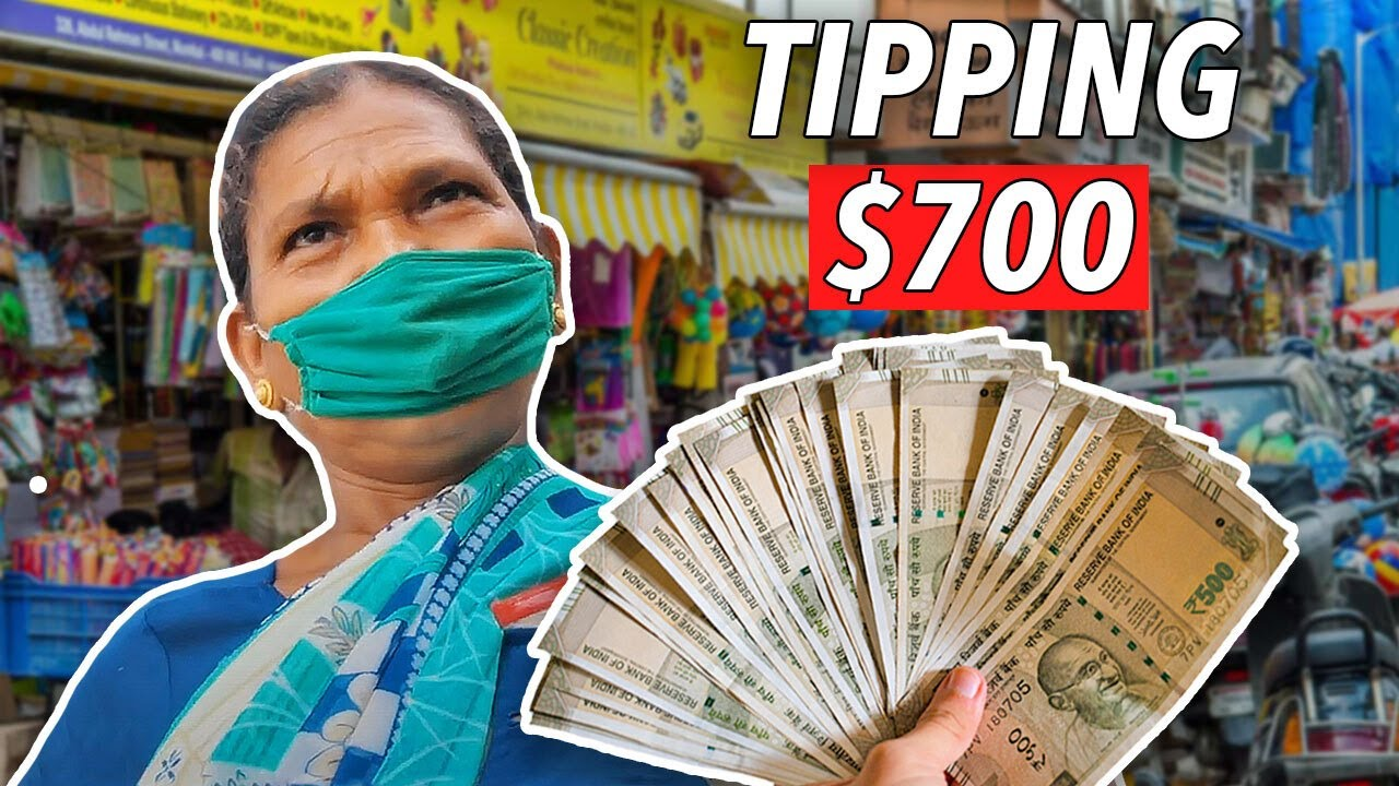 Tipping $700 to Street Vendors in Mumbai, India (UNEXPECTED REACTIONS)