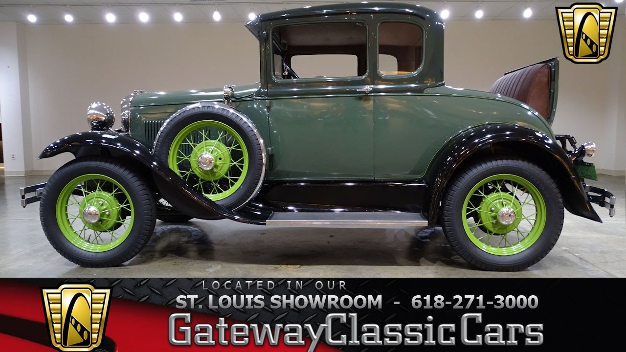 7293 1931 Ford Model A - Gateway Classic Cars of St. Louis - YouTube