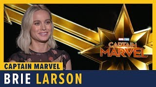 Brie Larson Talks 'Captain Marvel'