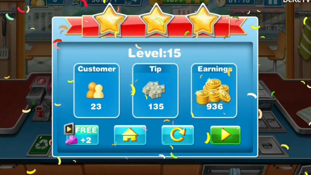 Crazy Cooking Chef - Kitchen Upgrade GamePlay (Level 15) Burger Shop ...