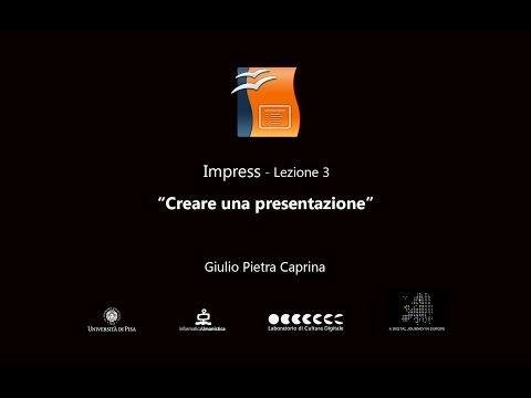 OpenOffice Impress - Lezione 3 - Creare una presentazione