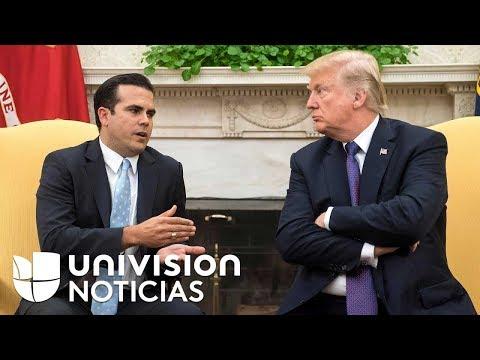 El gobernador de Puerto Rico le pide a Trump más ayuda para reconstrucción de la isla