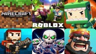Minecraft,ROBLOX,Mini World: Block Art,Pixel Gun 3D,Clash Royale,Castle Crush,Clash of Clans